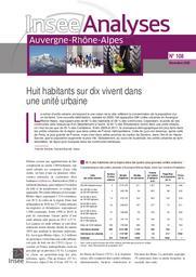 Insee Analyses Auvergne_Rhône-Alpes Huit habitants sur dix vivent dans une unité urbaine N°108 | ANTOINE Patricia