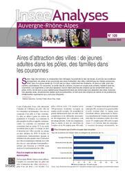 Insee Analyses Auvergne-Rhône-Alpes - Aires d'attraction des villes : de jeunes adultes dans les pôles, des familles dans les couronnes N°109 | DECORME Hélène