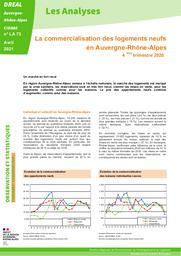 Les Analyses - La commercialisation des logements neufs en Auvergne-Rhône-Alpes - 4ème trimestre 2020 – N° LA73 | DIRECTION REGIONALE DE L'ENVIRONNEMENT, DE L'AMENAGEMENT ET DU LOGEMENT AUVERGNE-RHÔNE-ALPES. CIDDAE