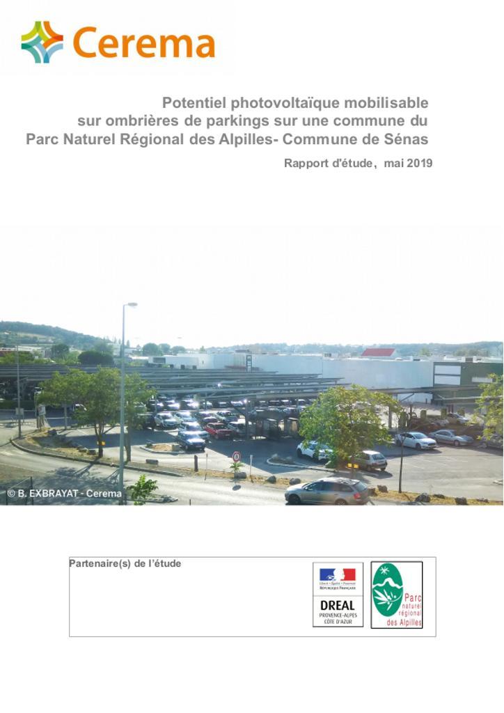 Potentiel photovoltaïque mobilisable sur ombrières de parkings sur une commune du Parc Naturel Régional des Alpilles- Commune de Sénas  |