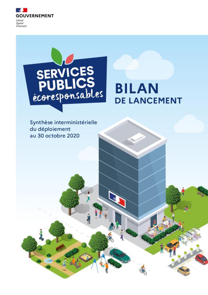 Services publics écoresponsables. Bilan de lancement. Synthèse interministérielle du déploiement au 30 octobre 2020. |