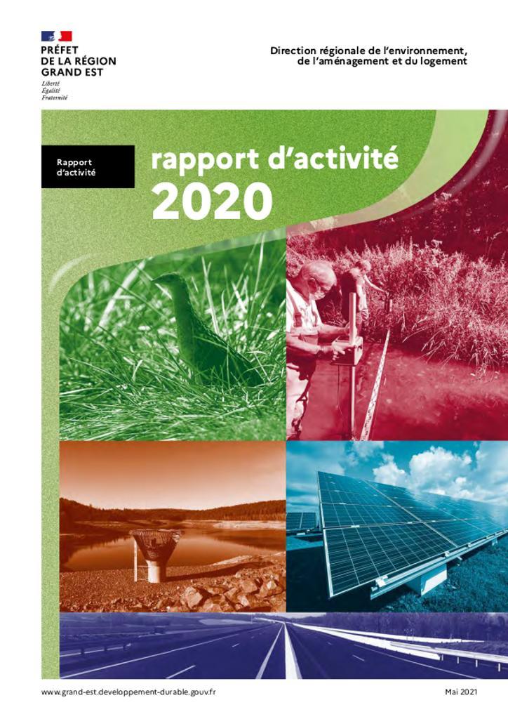 Rapport d'activité 2020 DREAL GRAND EST |