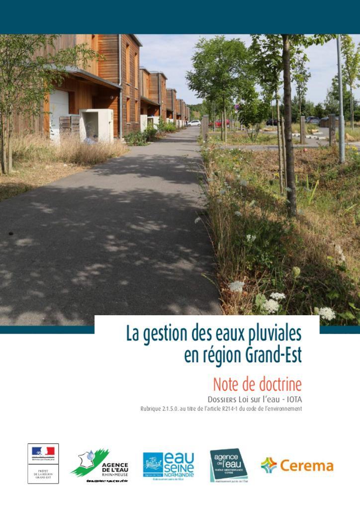 la gestion des eaux pluviales en Région Grand Est |