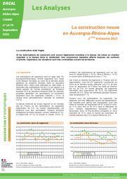 La construction neuve en Auvergne-Rhône-alpes - 2ème trimestre 2021 | DIRECTION REGIONALE DE L'ENVIRONNEMENT, DE L'AMENAGEMENT ET DU LOGEMENT AUVERGNE-RHÔNE-ALPES. CIDDAE