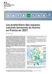 Les protections des espaces naturels terrestres et marins en France en 2021. | COULMIN Anthony