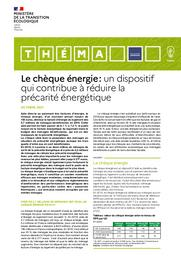 Le chèque énergie : un dispositif qui contribue à réduire la précarité énergétique. | CLEMENT Mathilde