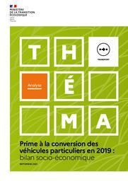 Prime à la conversion des véhicules particuliers en 2019 : bilan socio-économique. | CLEMENT Mathilde